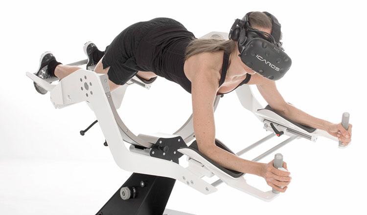 VR対応飛行体験マシン「ICAROS(イカロス)」