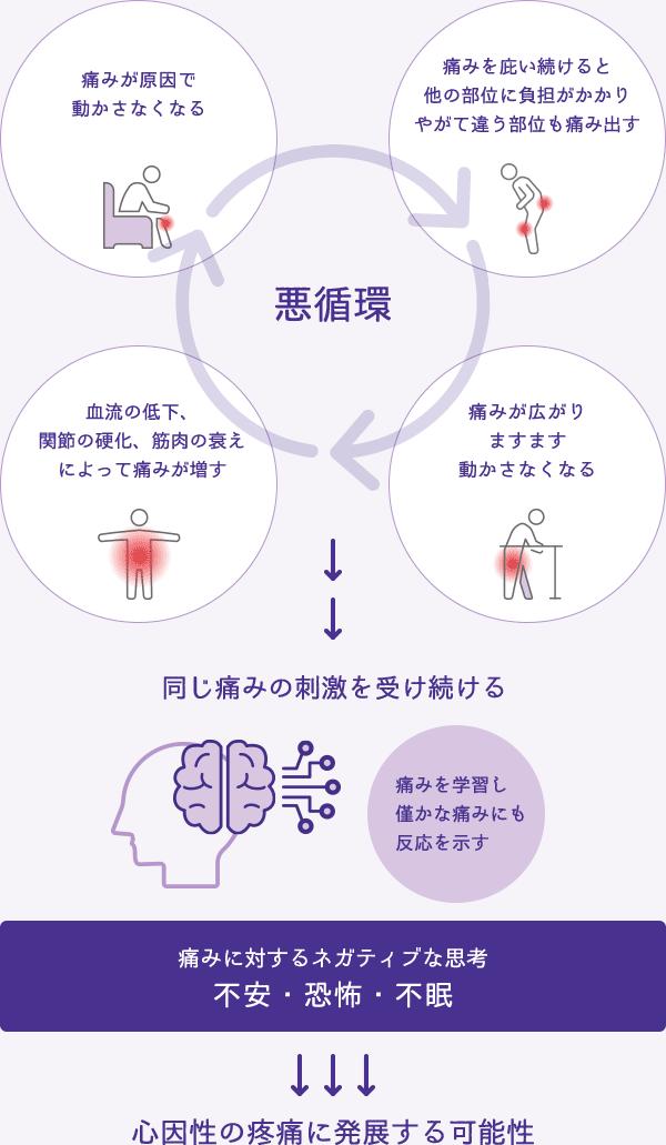 痛みの悪循環と心因性疼痛のメカニズム
